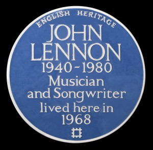 English Heritage blue plaque to John Lennon